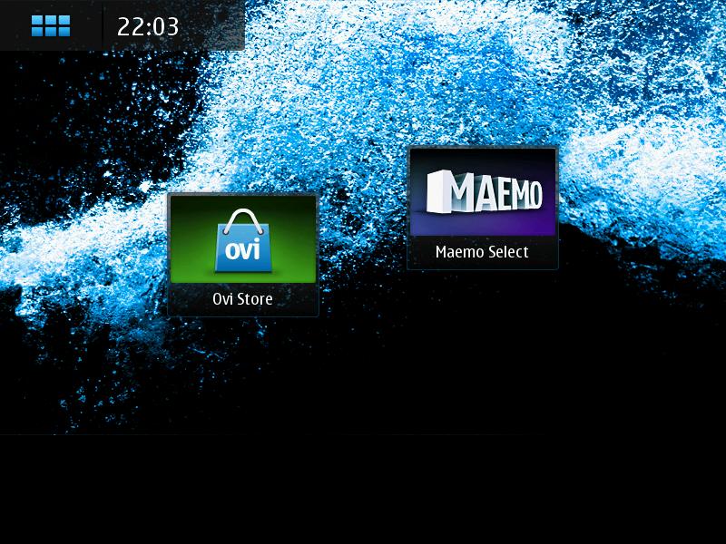 Initial Maemo UI